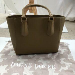 Dagne Dover Signature Classic Tote in Olive